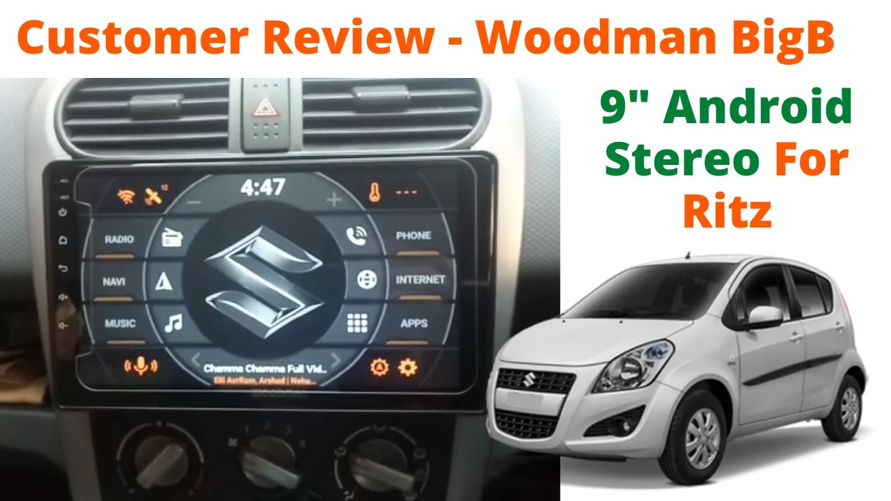 """Customer Review of Woodman Big B Best Android Stereo for Maruti Ritz- 9"""" HD  Display with GPS/ WiFi - YouTube"""