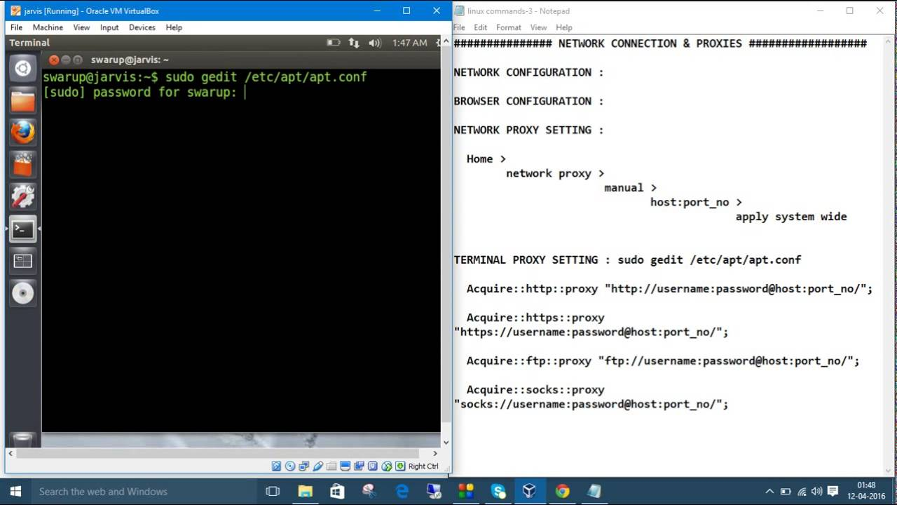 Linux Commands 11  Network & Terminal Proxy Setting