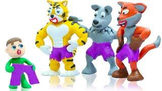 LUKA BABY FUNNY ANIMAL COSTUME DRESS UP - Animation Cartoons Play Doh