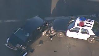 Police Chase Ends In Violent Crash