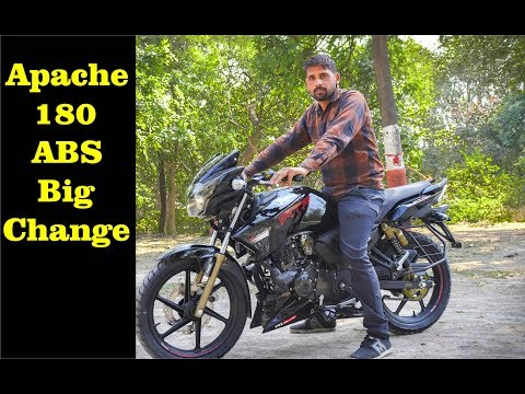 TVS Apache RTR 180 ABS 2019 Big Update Review Price Mileage Sound In Hindi