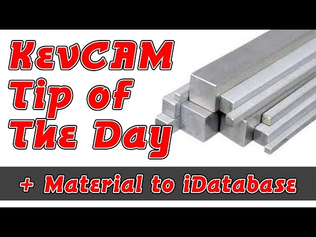 Tip of the Day - Add Material to iData Base