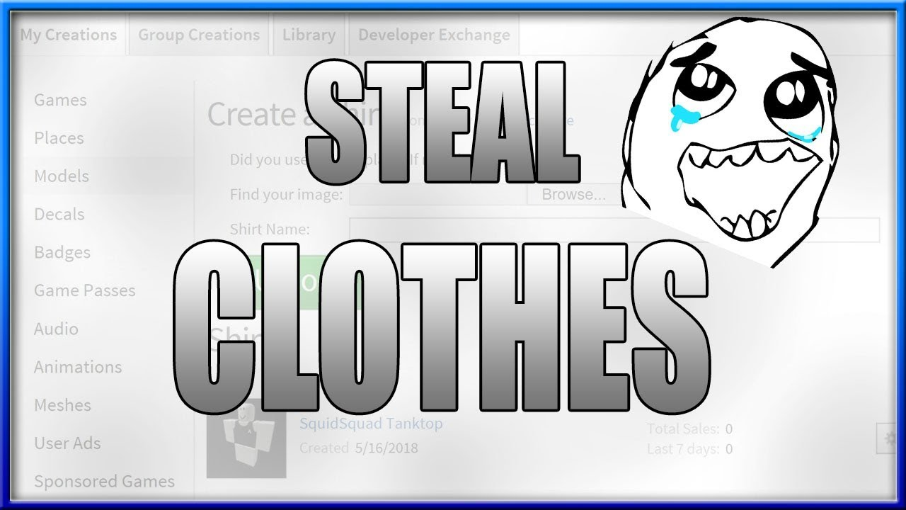 Roblox How To Steal Shirts Pants T Shirts On Roblox 2018 Youtube