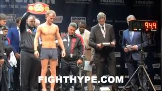 EVGENY GRADOVICH VS. LEE SELBY WEIGH-IN AND FACE OFF