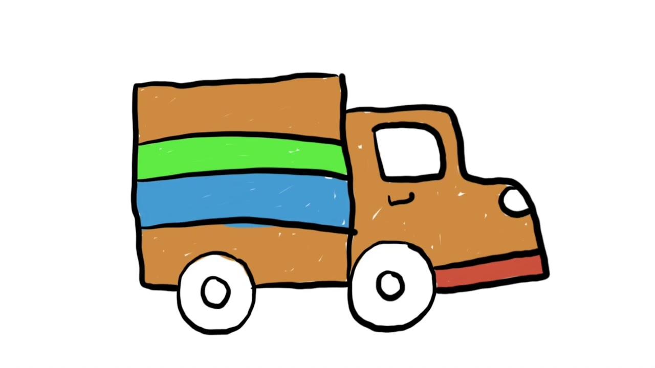Menggambar Kendaraan Transportasi Darat Truck Besar