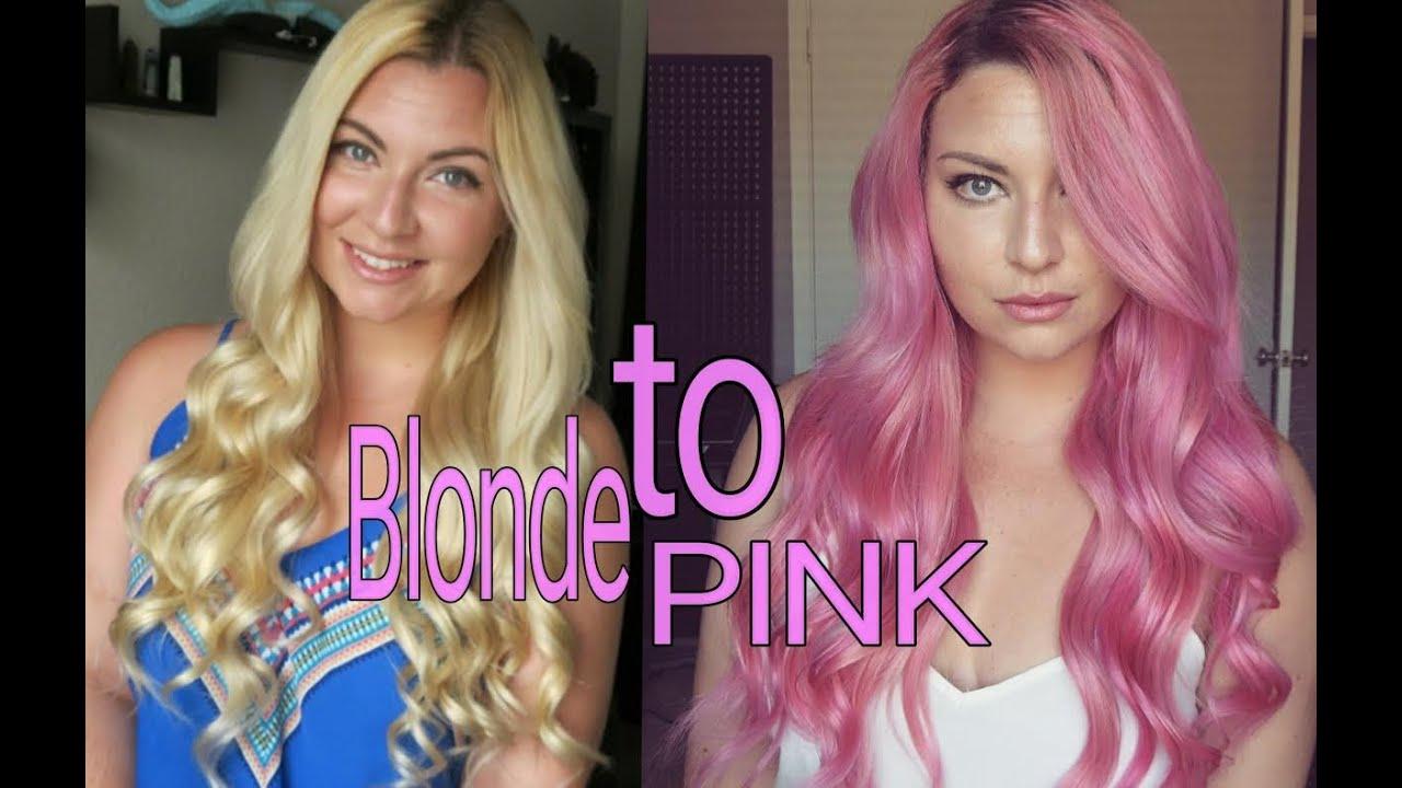 Dying My Hair Pink Hair Disaster Arctic Fox Virgin Pink Youtube