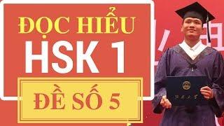 Tiếng Trung HSK 1 đề 5 đọc hiểu | Học tiếng Trung online cùng Nguyễn Hữu Dương