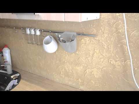 Декоративная штукатурка в кухне из серии ф4