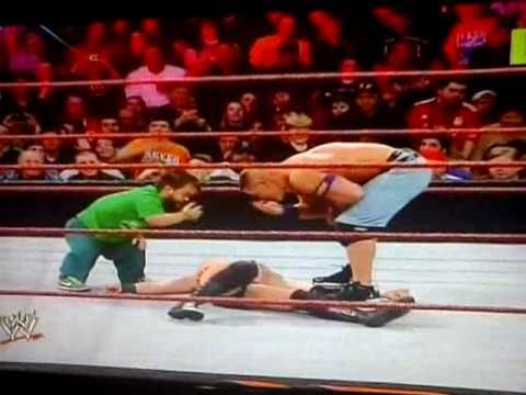 "WWE Royal Rumble 2011-Hornswoggle and John Cena did a double ""You Can"
