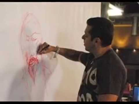 Salman khan painting pictures | Collection of Salman's Art work (Paintings)