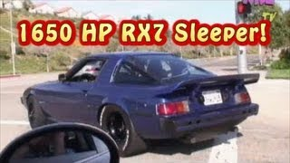 "1650 HP RX7, LOL!,  ""The Sleeper Part 1 of 3"". Honest George.  Amazing!  Nelson Racing Engines."