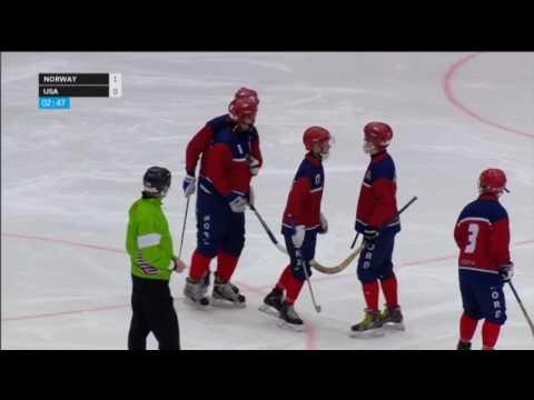 USA Bandy  vs Norway 2017 VM Sandviken