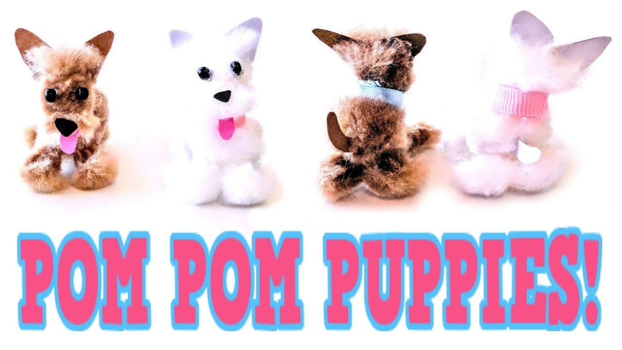 Diy pom pom puppies easy pom pom craft idea make your for Pom pom puppy craft