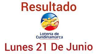 Resultado LOTERIA DE CUNDINAMARCA Del Lunes 21 De Junio del 2021