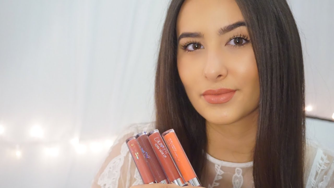 Colourpop Ultra Satin Lip Swatches | Tan Skin - YouTube