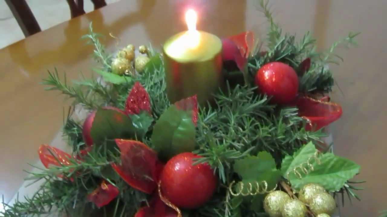Centro de mesa de navidad suerte youtube - Centros navidenos de mesa ...