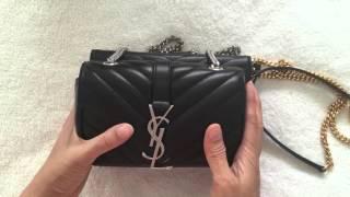 Review: YSL Saint Laurent Baby Monogram Matelasse Bag