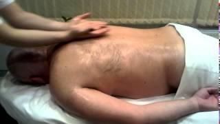 Классический массаж спины видео 1