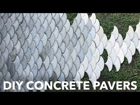 DIY Concrete Patio Pavers