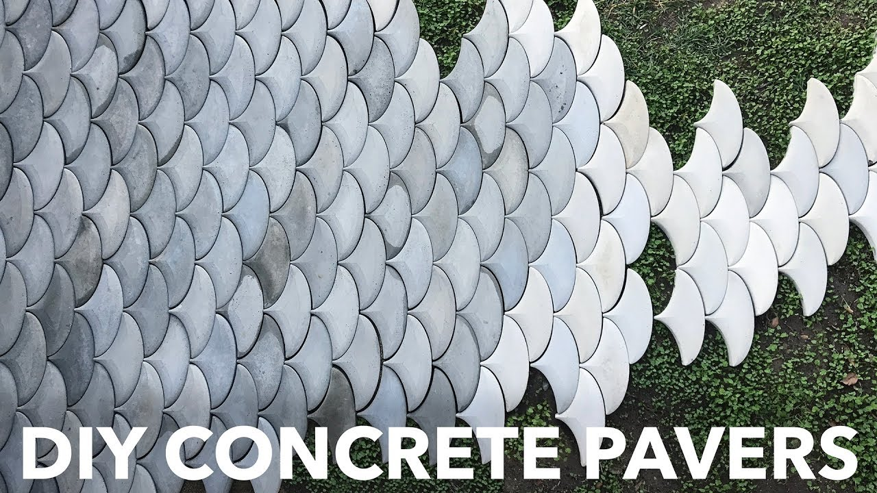 Diy Concrete Patio Pavers Youtube