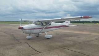 Straight Tail Cessna Skyhawk Start Up & Take Off 1958