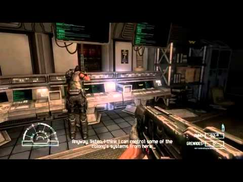 Aliens vs  Predator 2010 PC Marine   Mission 1 Colony   Gameplay
