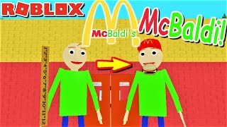 *SPECIAL* PLAY AS MCBALDI!!   The Weird Side of Roblox: Baldi's Basics RP
