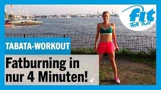 TABATA-Workout in 4 Min: Fatburning garantiert 🔥