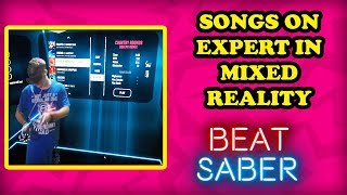 BEAT SABER VR! Can we complete all the songs on EXPERT in the VR LOUNGE?? DON