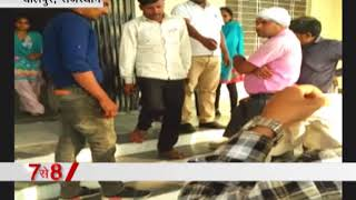 A girl student beaten a Manchala in College campus in Rajasthan
