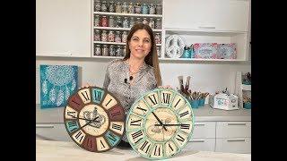 Reloj con tecnica de transferencia, chalk paint y vinilo !
