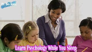Learn Psychology While You Sleep - Seven Steps to an Effective Lessonn Plan