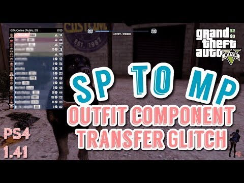 *PATCHED* GTA5 | *PS4* SP to MP Outfit Component Transfer Glitch 1.41 (Director Mode Glitch)
