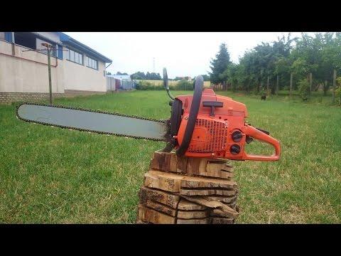 husqvarna how to start chainsaw