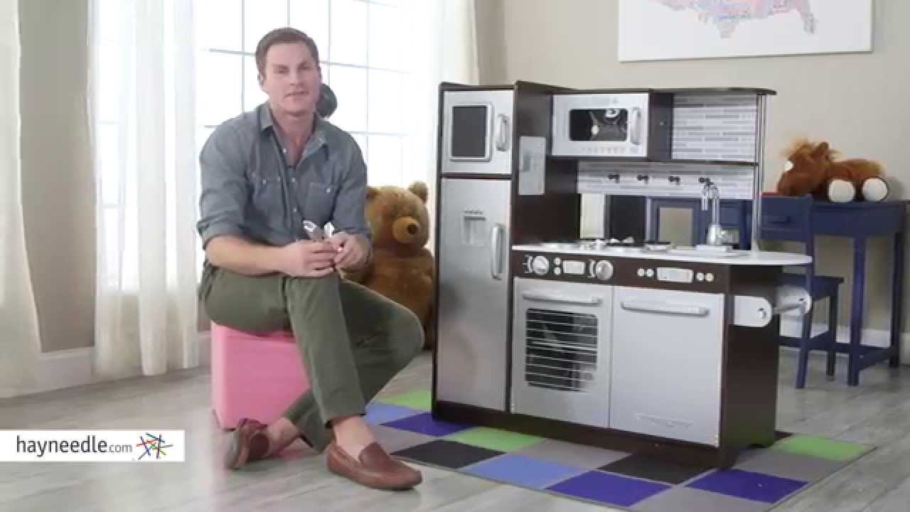 Beau KidKraft Uptown Espresso Play Kitchen   Product Review Video   YouTube