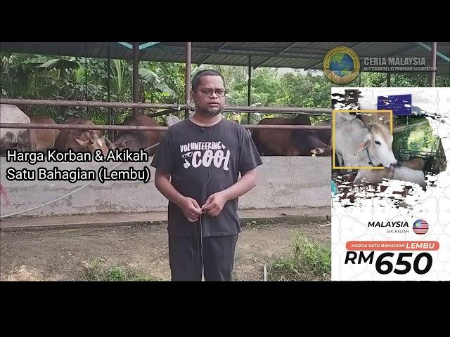 SERTAI IBADAH KORBAN MALAYSIA 2019/1440H BERSAMA KAMI