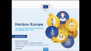 2-2 NMP related topics in Horizon Europe Cluster 4, Nicholas DELIYANAKIS, DG R&I European Commission