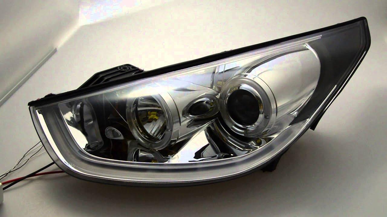 sw ltube scheinwerfer hyundai ix35 chrome mit led lightbar. Black Bedroom Furniture Sets. Home Design Ideas