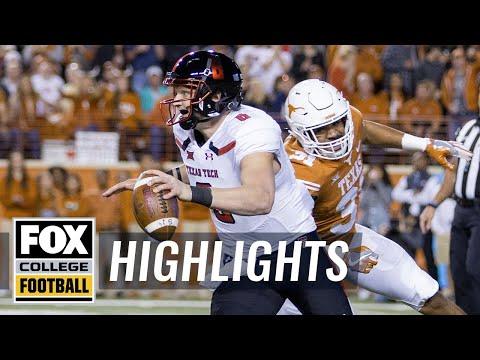 Texas vs Texas Tech | Highlights | FOX COLLEGE FOOTBALL