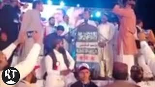 Qamar Zaman of PPP speaks at anti-Ahmadiyya rally in Chiniot