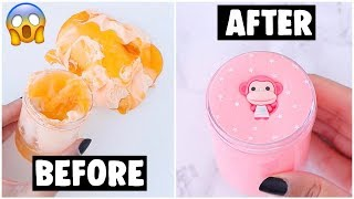 EXTREME $1 SLIME MAKEΟVERS *fixing my 2 year old slimes*