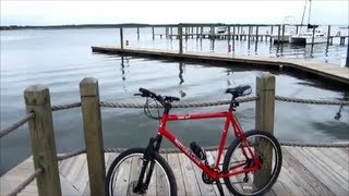 Mountain Biking - Emerald Isle Beach NC - Sound Drive Cedar St. To Harbor Marina - June 23, 2013