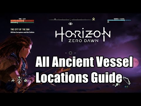 Horizon Zero Dawn All Ancient Vessel Locations - Palas' Reward Box Trophy All Ancient Vessels found