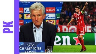 Heynckes lobt Thomas Müller auf PK | Bayern München - Celtic Glasgow