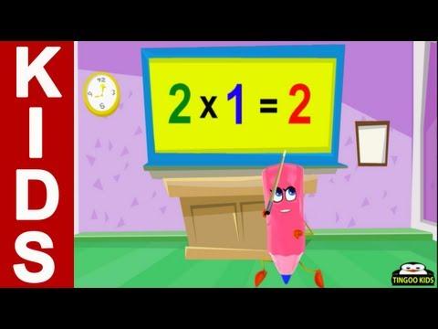 Homeschool Preschool | 2 Times Table Song | Online Math Education (English Language)