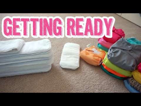 Getting Ready for Cloth Diapering a Newborn | Prepping & Stuffing Pocket Diapers