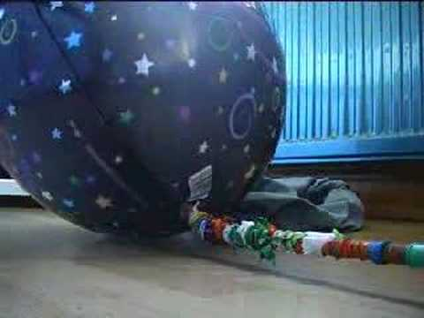 foil balloon explodes