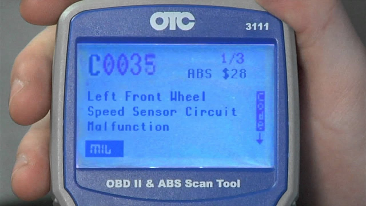 Otc 3111 Trilingual Obd Ii And Abs Scan Tool With Codeconnect Youtube