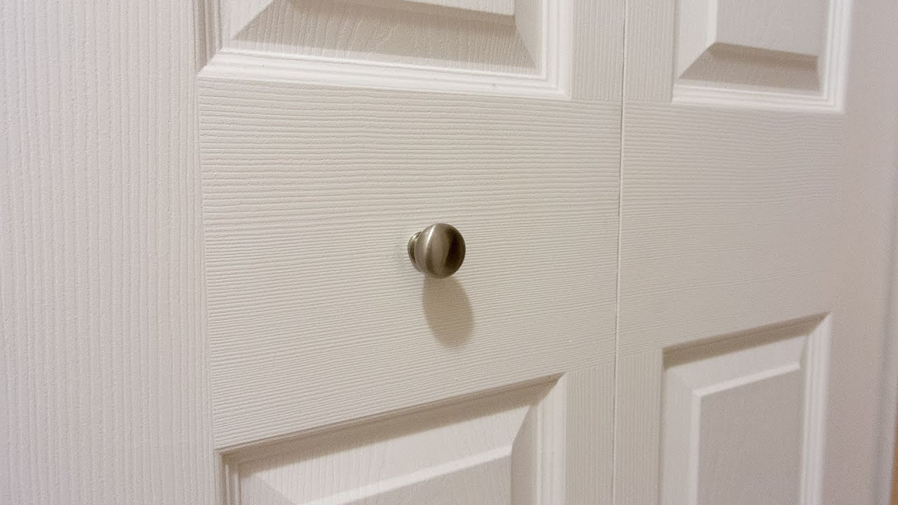 Keep Bifold Closet Door Knobs From Loosening Youtube