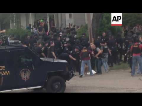 Raw: Protesters Arrested in Baton Rouge